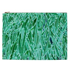 Green Background Pattern Cosmetic Bag (XXL)