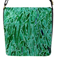 Green Background Pattern Flap Messenger Bag (s)