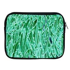 Green Background Pattern Apple iPad 2/3/4 Zipper Cases