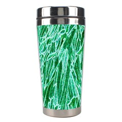 Green Background Pattern Stainless Steel Travel Tumblers