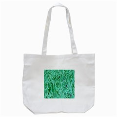 Green Background Pattern Tote Bag (White)
