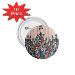 Blue Brown Cloth Design 1 75  Buttons (10 Pack)