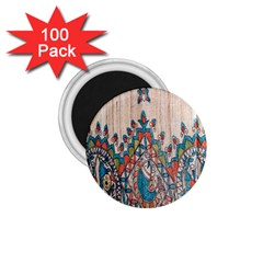 Blue Brown Cloth Design 1 75  Magnets (100 Pack)