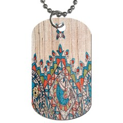 Blue Brown Cloth Design Dog Tag (two Sides)