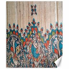 Blue Brown Cloth Design Canvas 20  x 24
