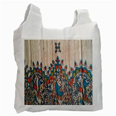 Blue Brown Cloth Design Recycle Bag (Two Side)