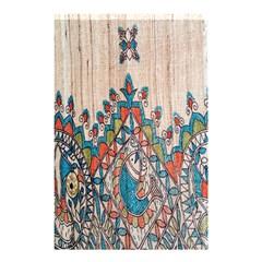 Blue Brown Cloth Design Shower Curtain 48  X 72  (small)