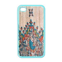 Blue Brown Cloth Design Apple iPhone 4 Case (Color)
