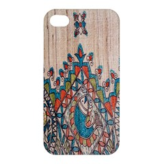 Blue Brown Cloth Design Apple iPhone 4/4S Hardshell Case