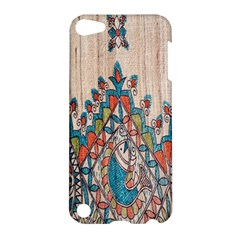 Blue Brown Cloth Design Apple iPod Touch 5 Hardshell Case