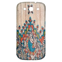 Blue Brown Cloth Design Samsung Galaxy S3 S III Classic Hardshell Back Case
