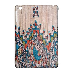 Blue Brown Cloth Design Apple iPad Mini Hardshell Case (Compatible with Smart Cover)
