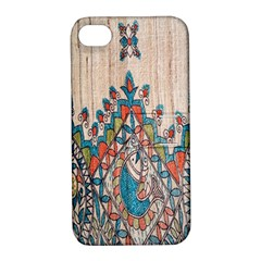 Blue Brown Cloth Design Apple iPhone 4/4S Hardshell Case with Stand