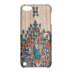 Blue Brown Cloth Design Apple iPod Touch 5 Hardshell Case with Stand