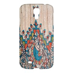 Blue Brown Cloth Design Samsung Galaxy S4 I9500/I9505 Hardshell Case