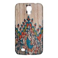 Blue Brown Cloth Design Samsung Galaxy Mega 6 3  I9200 Hardshell Case