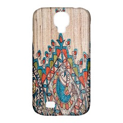 Blue Brown Cloth Design Samsung Galaxy S4 Classic Hardshell Case (PC+Silicone)