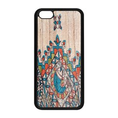 Blue Brown Cloth Design Apple iPhone 5C Seamless Case (Black)