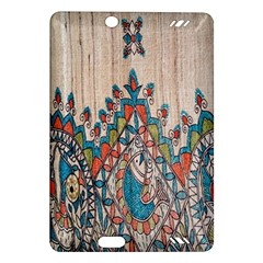 Blue Brown Cloth Design Amazon Kindle Fire HD (2013) Hardshell Case