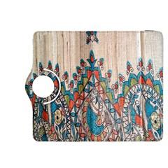 Blue Brown Cloth Design Kindle Fire HDX 8.9  Flip 360 Case