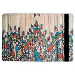 Blue Brown Cloth Design iPad Air 2 Flip