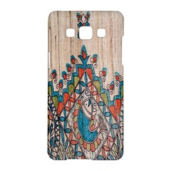 Blue Brown Cloth Design Samsung Galaxy A5 Hardshell Case
