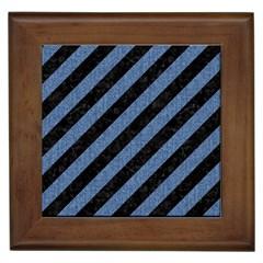 STR3 BK-MRBL BL-DENM Framed Tiles