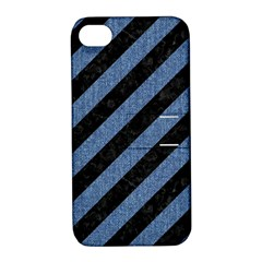 STR3 BK-MRBL BL-DENM Apple iPhone 4/4S Hardshell Case with Stand