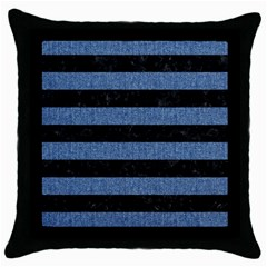 STR2 BK-MRBL BL-DENM Throw Pillow Case (Black)