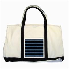 STR2 BK-MRBL BL-DENM Two Tone Tote Bag