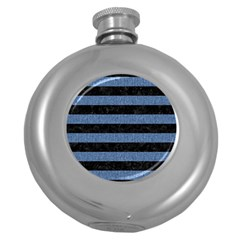 STR2 BK-MRBL BL-DENM Round Hip Flask (5 oz)