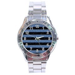 STR2 BK-MRBL BL-DENM Stainless Steel Analogue Watch
