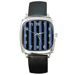 STR1 BK-MRBL BL-DENM Square Metal Watch