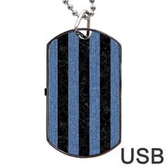 STR1 BK-MRBL BL-DENM Dog Tag USB Flash (One Side)