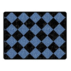 SQR2 BK-MRBL BL-DENM Fleece Blanket (Small)