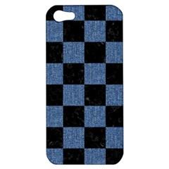 SQR1 BK-MRBL BL-DENM Apple iPhone 5 Hardshell Case