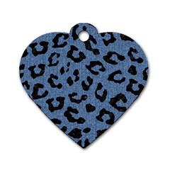 SKN5 BK-MRBL BL-DENM Dog Tag Heart (One Side)