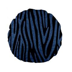 SKN4 BK-MRBL BL-DENM (R) Standard 15  Premium Flano Round Cushions