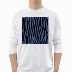 SKN4 BK-MRBL BL-DENM White Long Sleeve T-Shirts