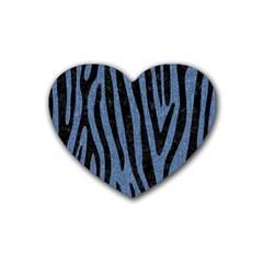 SKN4 BK-MRBL BL-DENM Rubber Coaster (Heart)