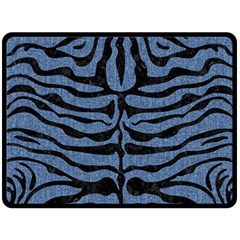 SKN2 BK-MRBL BL-DENM (R) Fleece Blanket (Large)