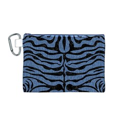 SKN2 BK-MRBL BL-DENM (R) Canvas Cosmetic Bag (M)
