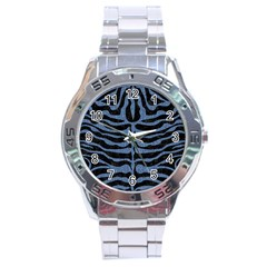 SKN2 BK-MRBL BL-DENM Stainless Steel Analogue Watch