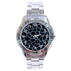 SKN1 BK-MRBL BL-DENM (R) Stainless Steel Analogue Watch