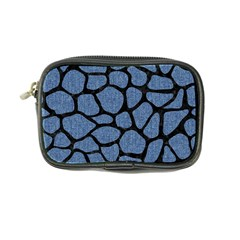 Skin1 Black Marble & Blue Denim Coin Purse