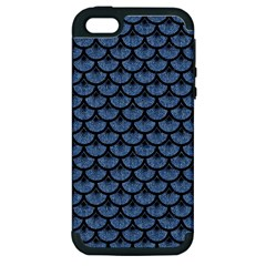 SCA3 BK-MRBL BL-DENM (R) Apple iPhone 5 Hardshell Case (PC+Silicone)