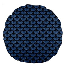 SCA3 BK-MRBL BL-DENM (R) Large 18  Premium Round Cushions