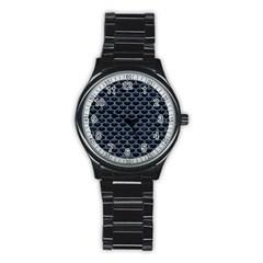 SCA3 BK-MRBL BL-DENM Stainless Steel Round Watch