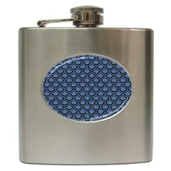 SCA2 BK-MRBL BL-DENM (R) Hip Flask (6 oz)