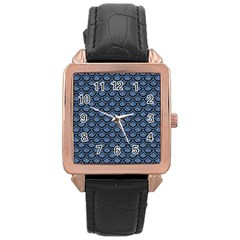 SCA2 BK-MRBL BL-DENM (R) Rose Gold Leather Watch